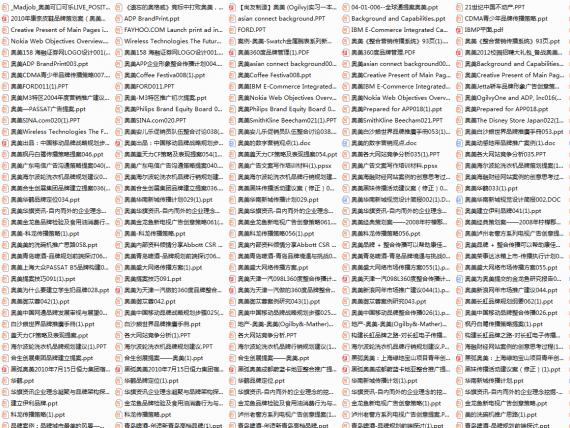 营销案例分享:史上最全的奥美提案资料299份