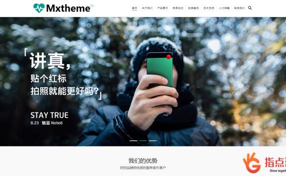 WordPress 企业主题 Mxtheme03大气通用产品企业网站WordPress主题
