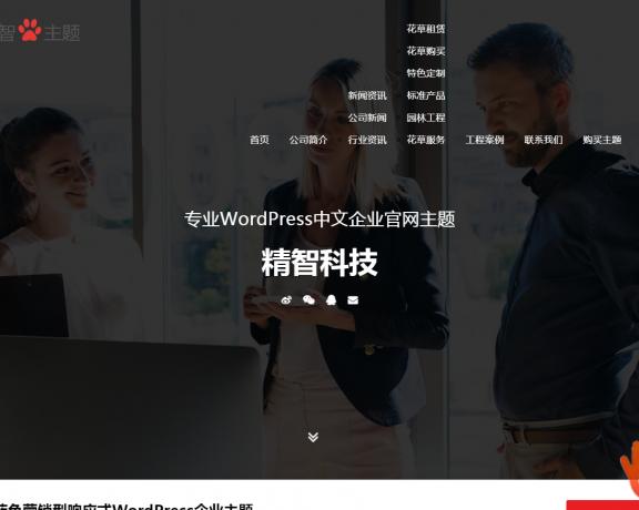 WordPress企业主题 wp红色主题用于文化媒体、广告艺术公司的企业主题